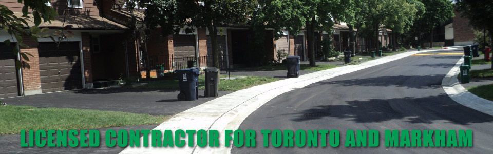asphalt paving on Toronto street / Licensed Contractor for Toronto and Markham