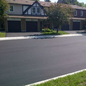 newly paved residential street