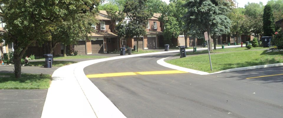 newly paved street view